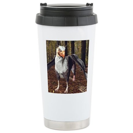 Griffin In The Forest Stainless Steel Travel Mug