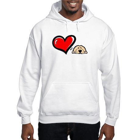 Love = Golden Hooded Sweatshirt