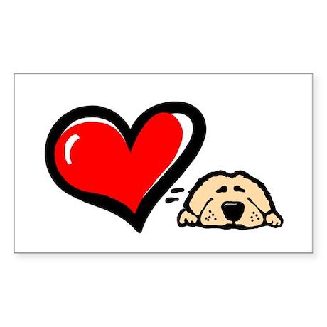 Love = Golden Rectangle Sticker