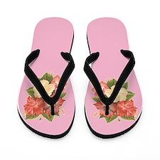Hibiscus Floral Print Flip Flops