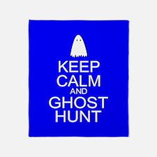 Keep Calm Ghost Hunt (Parody) Throw Blanket