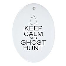 Keep Calm Ghost Hunt (Parody) Ornament (Oval)
