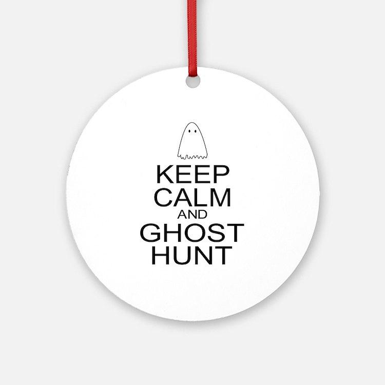 Keep Calm Ghost Hunt (Parody) Ornament (Round)
