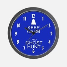 Keep Calm Ghost Hunt (Parody) Wall Clock