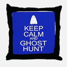 Keep Calm Ghost Hunt (Parody) Throw Pillow