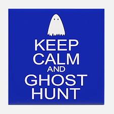 Keep Calm Ghost Hunt (Parody) Tile Coaster