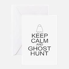 Keep Calm Ghost Hunt (Parody) Greeting Card