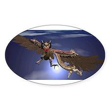 Dragon Flying At Night Decal