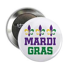 "Mardi Gras Gift 2.25"" Button (100 pack)"