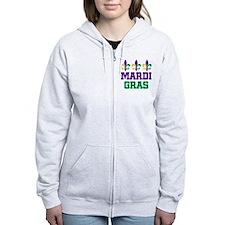 Mardi Gras Gift Zip Hoodie