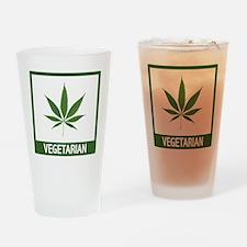Marijuana Vegetarian Humor Drinking Glass