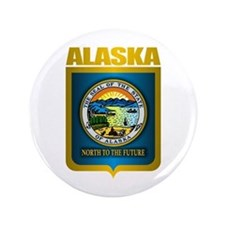 """Alaska Gold"" 3.5"" Button"
