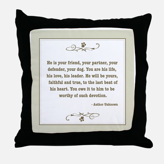 Your Friend Throw Pillow