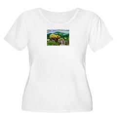 Bear - Women's Plus Size Scoop Neck T-Shirt