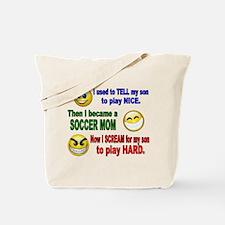 SOCCER MOM PLAY HARD Tote Bag