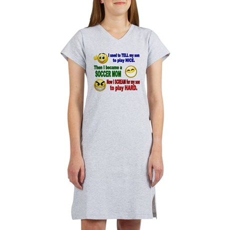 SOCCER MOM PLAY HARD Women's Nightshirt