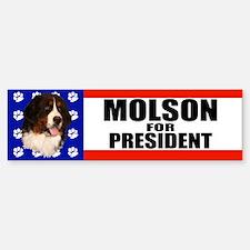 Molson For President Bumper Bumper Bumper Sticker