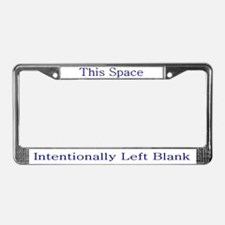 Blank Space License Plate Frame