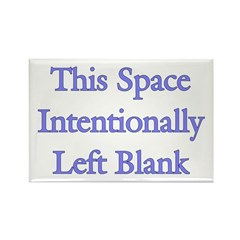 Blank Space Rectangle Magnet