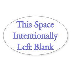 Blank Space Sticker (Oval)