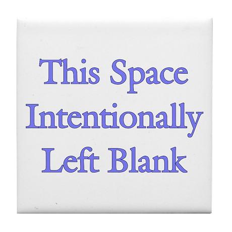 Blank Space Tile Coaster