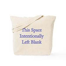 Blank Space Tote Bag