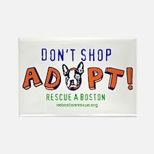 Unique Boston terrier rescue Rectangle Magnet