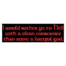 clean conscience Bumper Sticker