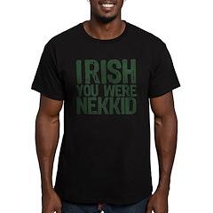 Irish You Were Nekkid Men's Fitted T-Shirt (dark)