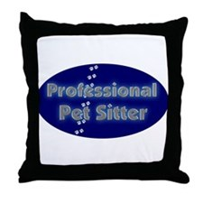 Professional Pet Sitter Oval Throw Pillow