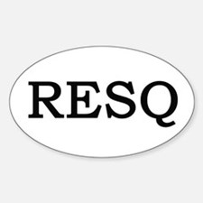 RESQ Oval Decal