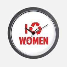 I Recycle Women Wall Clock