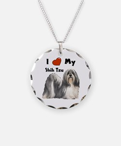 I Love My Shih Tzu Necklace