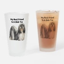 My Best Friend Is A Shih Tzu Drinking Glass