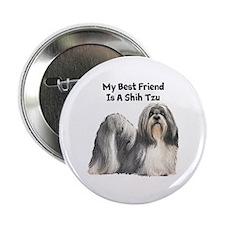 "My Best Friend Is A Shih Tzu 2.25"" Button"