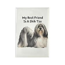 My Best Friend Is A Shih Tzu Rectangle Magnet