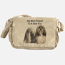 My Best Friend Is A Shih Tzu Messenger Bag