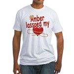 Amber Lassoed My Heart Fitted T-Shirt
