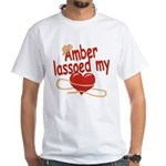 Amber Lassoed My Heart White T-Shirt