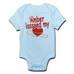 Amber Lassoed My Heart Infant Bodysuit