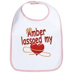 Amber Lassoed My Heart Bib