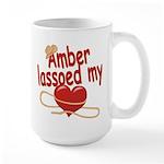 Amber Lassoed My Heart Large Mug