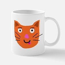 Cat Head Mug (White)
