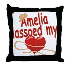 Amelia Lassoed My Heart Throw Pillow