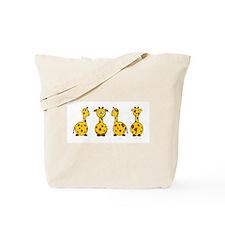 4 Giraffes Tote Bag