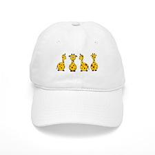 4 Giraffes Baseball Cap