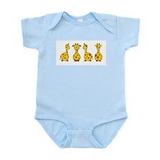 4 Giraffes Infant Bodysuit