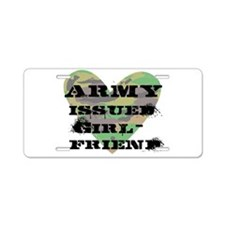 Army Issued Girlfriend Aluminum License Plate