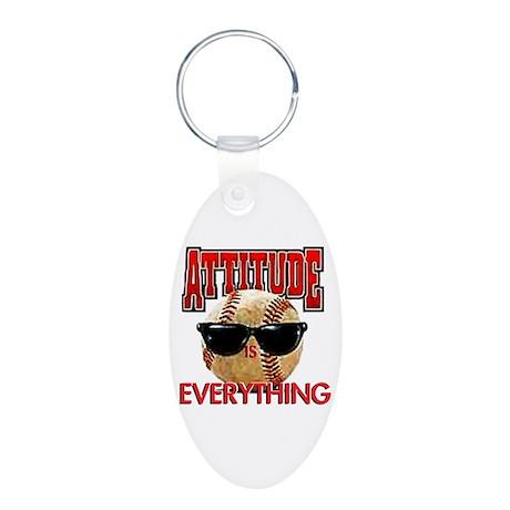 Attitude is Everything Aluminum Oval Keychain