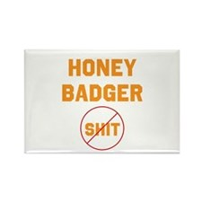 Honey Badger Don't Give a Shi Rectangle Magnet